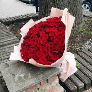 101 червона троянда букет на день народження
