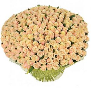 букет 201 кремова троянда