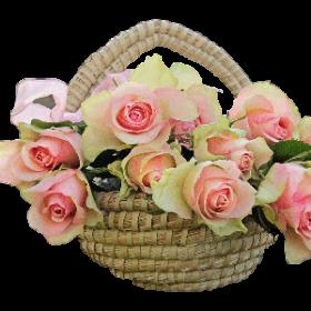 Квіти в кошиках