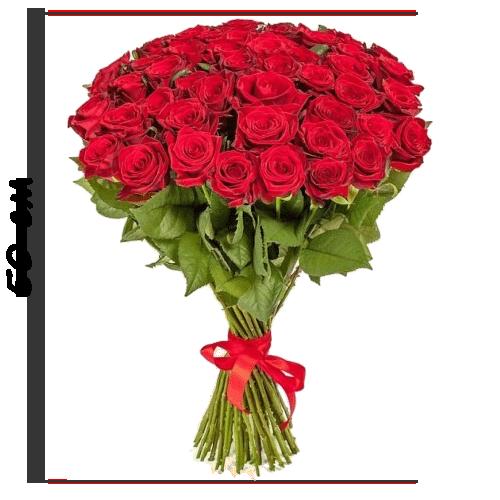фото товару 51 червона троянда (50 см)