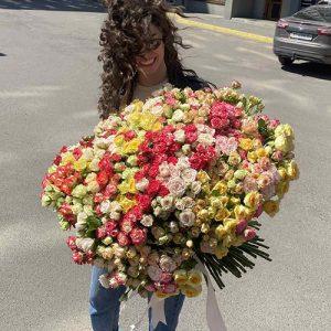 фото доставки 201 кущова троянда
